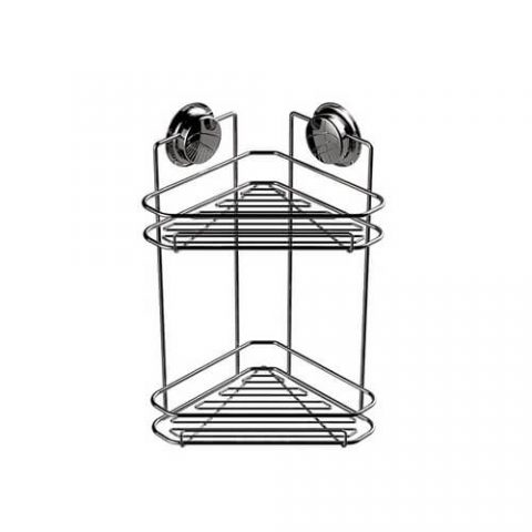 corner shower shelf with suction cups 700006