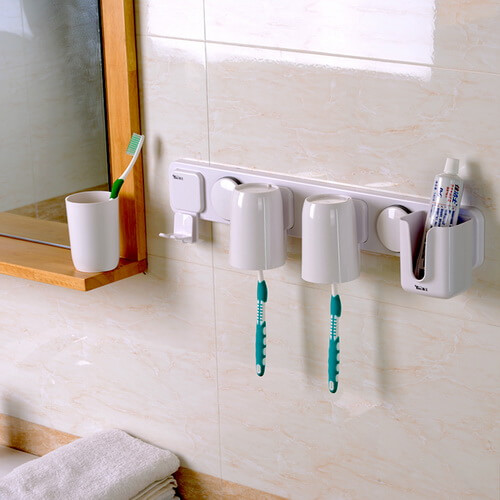 suction bathroom toothbrush holder set 264006 using