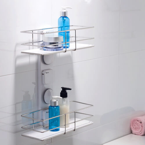 suction cup shower shelf 263005 using