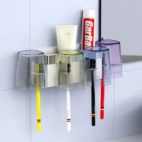 suction cup toothbrush and toothpaste holder 269502 using