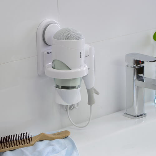 suction plastic hair dryer holder 261005 using